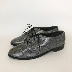 American Apparel | Silver Glitter Dance Shoes 10
